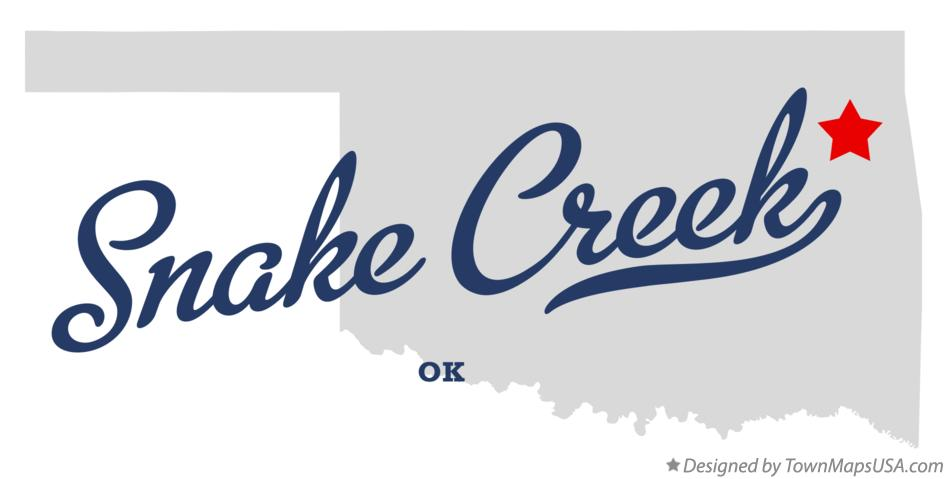 Map of Snake Creek Oklahoma OK