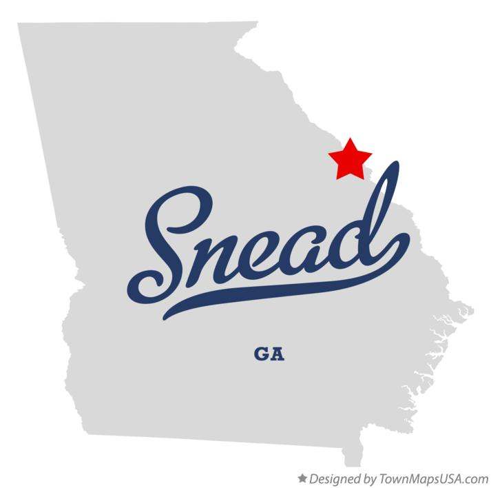 Map of Snead Georgia GA