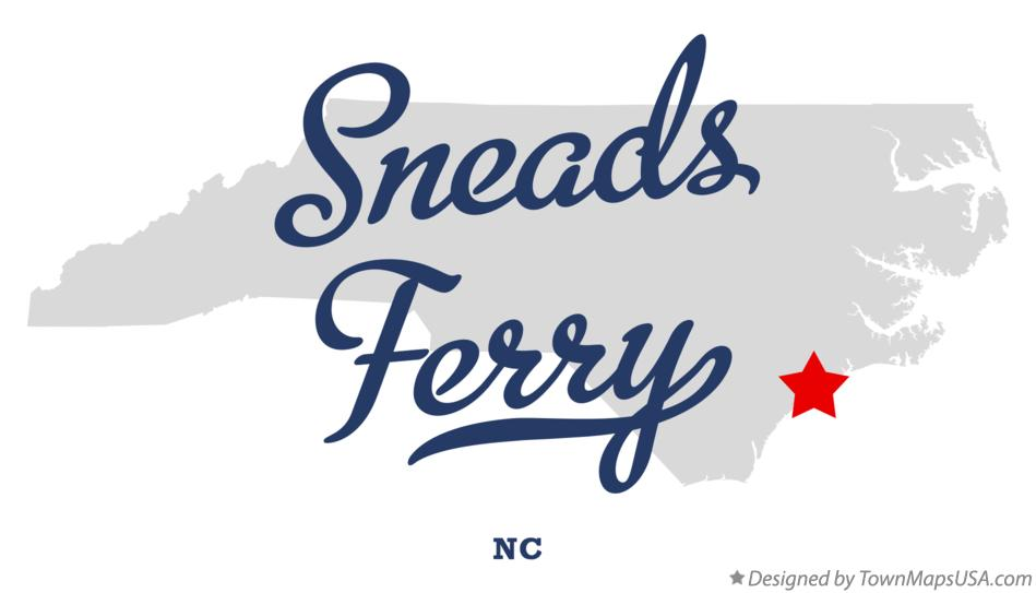 Map Of Sneads Ferry Nc North Carolina