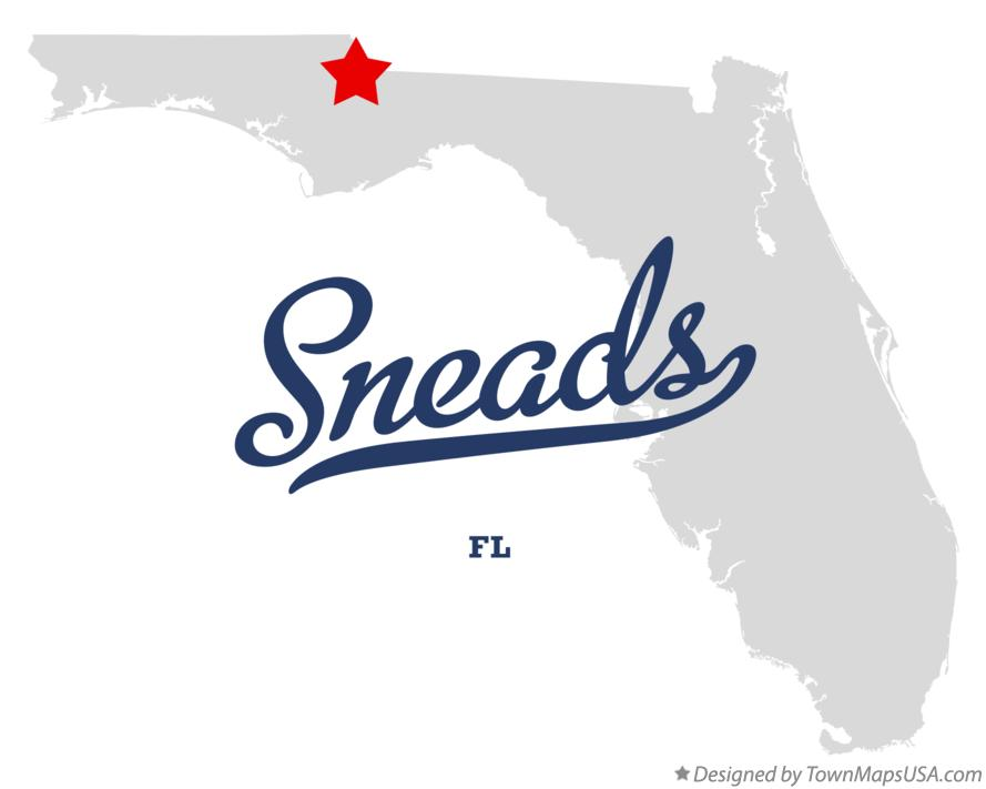 Map of Sneads Florida FL
