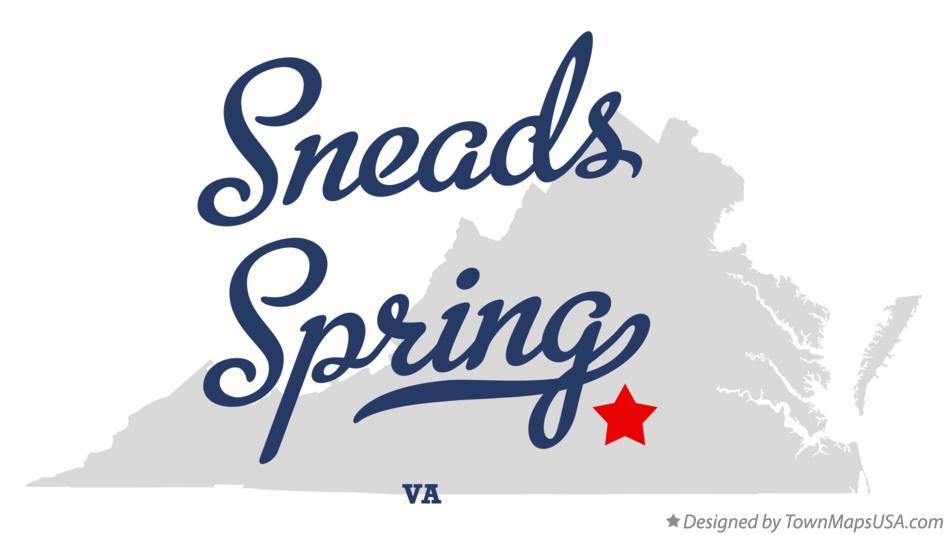 Map of Sneads Spring Virginia VA