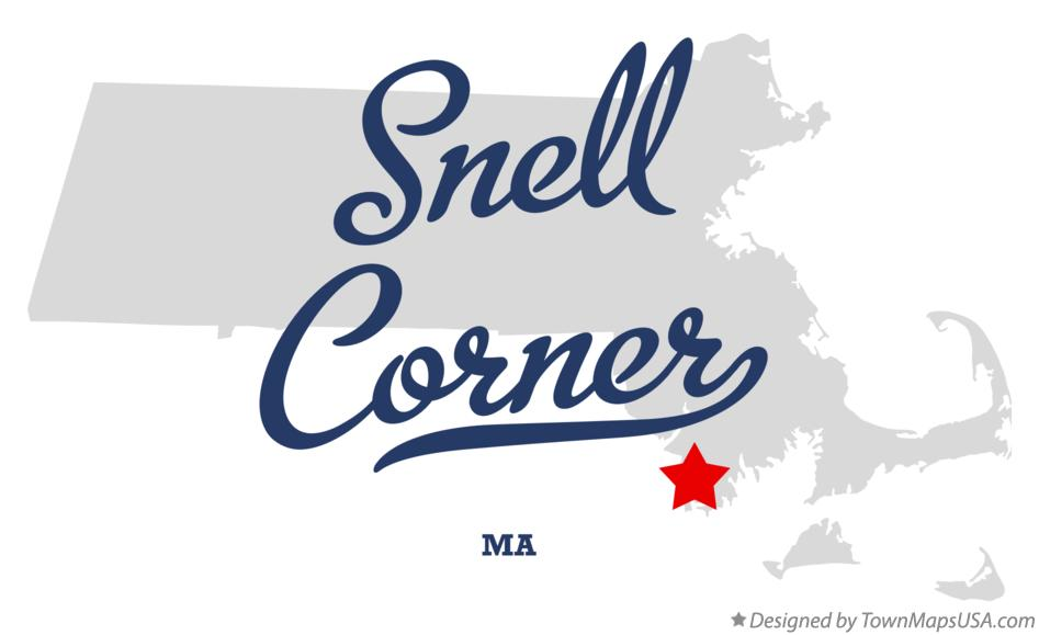 Map of Snell Corner Massachusetts MA