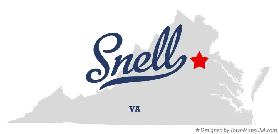 Map of Snell Virginia VA