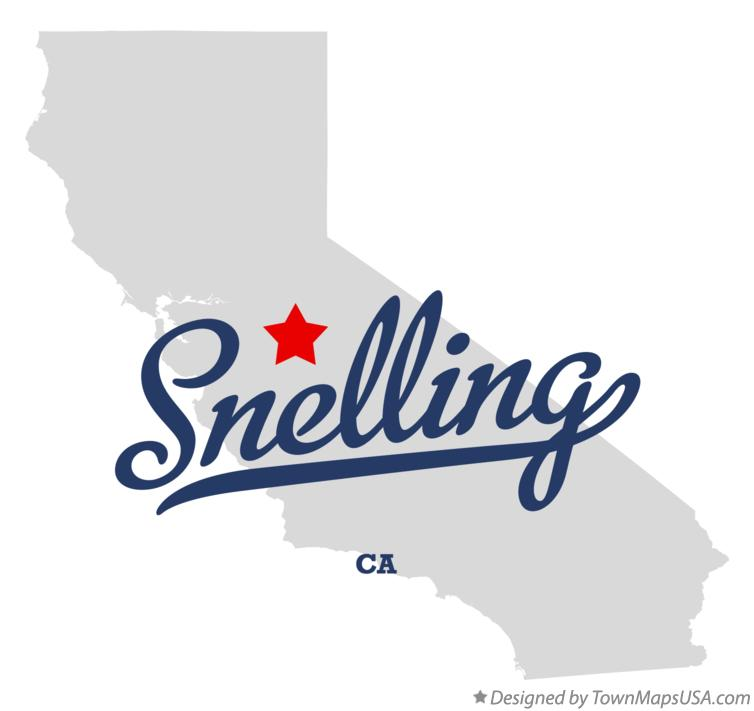 Map of Snelling California CA