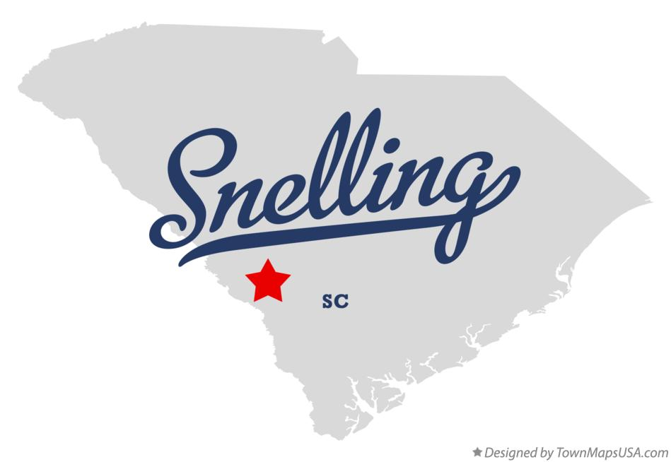 Map of Snelling South Carolina SC