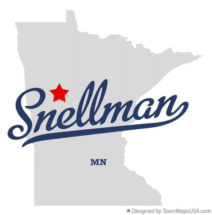 Map of Snellman Minnesota MN