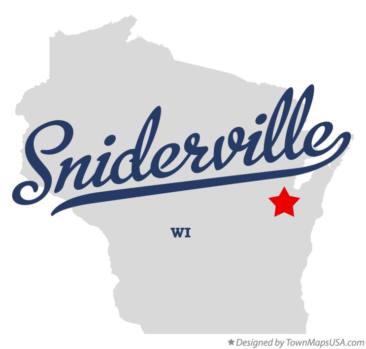 Map of Sniderville Wisconsin WI