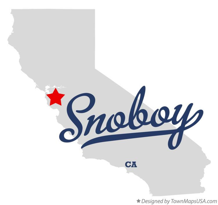 Map of Snoboy California CA