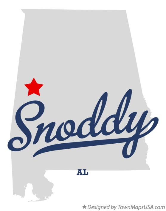 Map of Snoddy Alabama AL