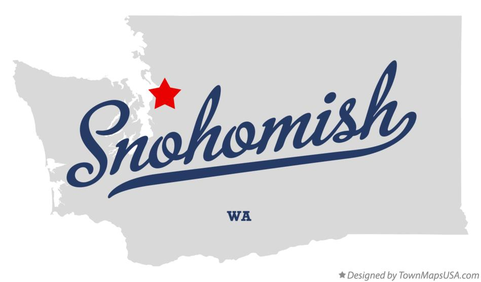 Map of Snohomish Washington WA