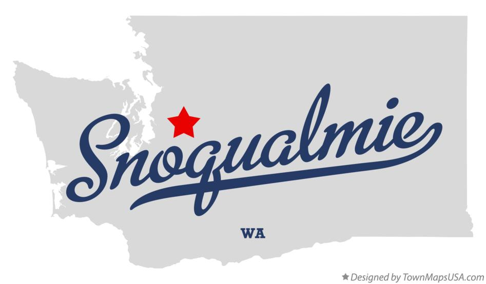 Map of Snoqualmie Washington WA