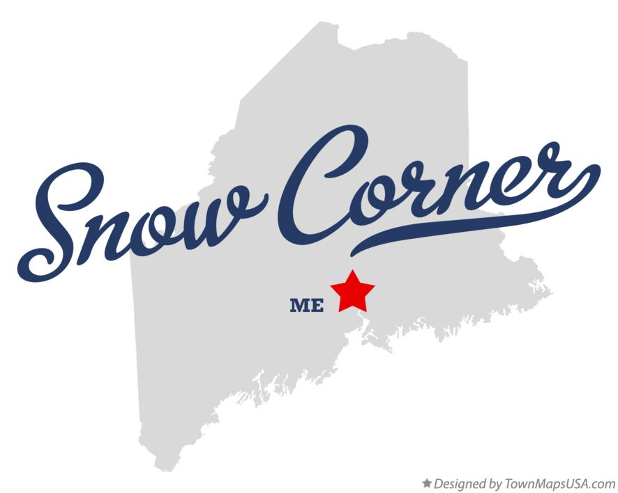 Map of Snow Corner Maine ME