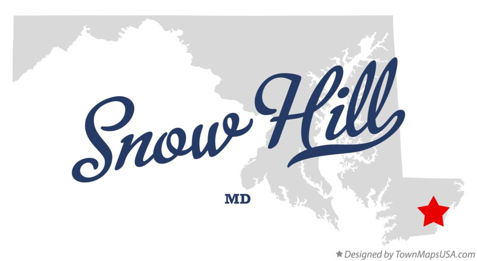 Map of Snow Hill Maryland MD