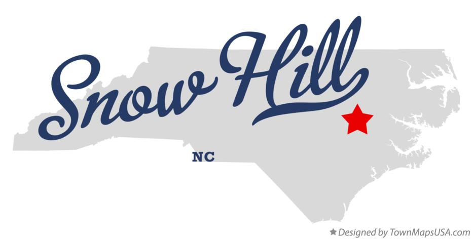 Map of Snow Hill North Carolina NC