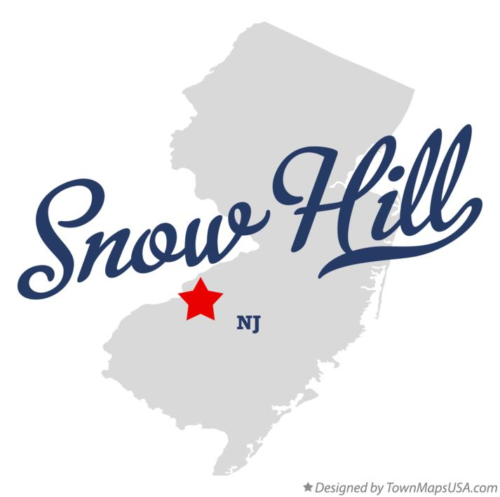 Map of Snow Hill New Jersey NJ