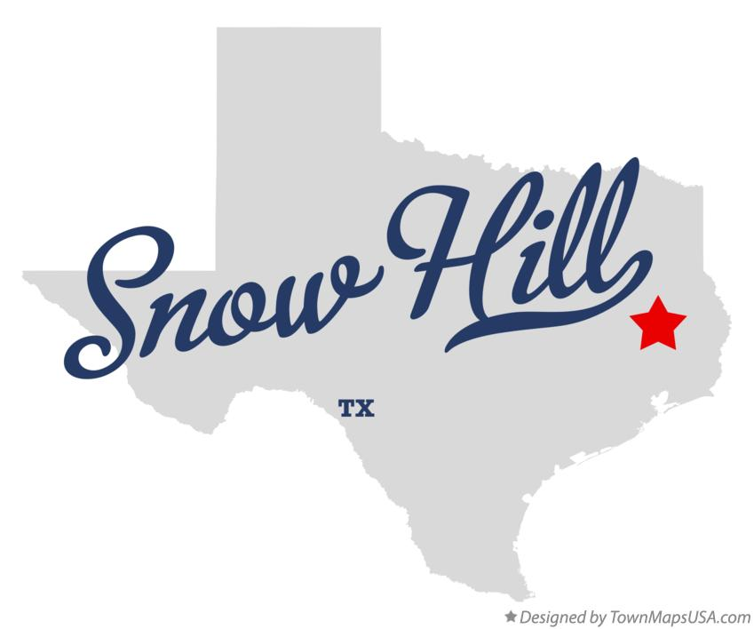 Map of Snow Hill Texas TX