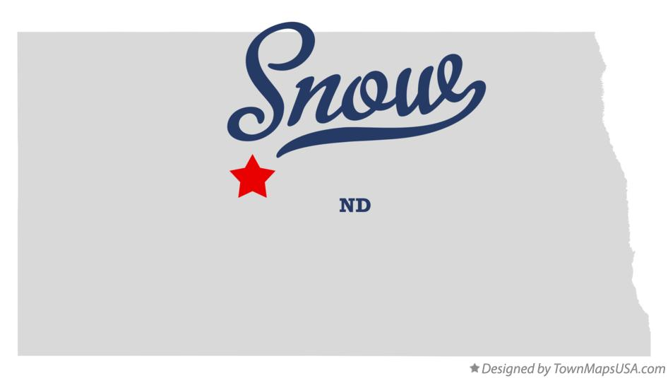 Map of Snow North Dakota ND