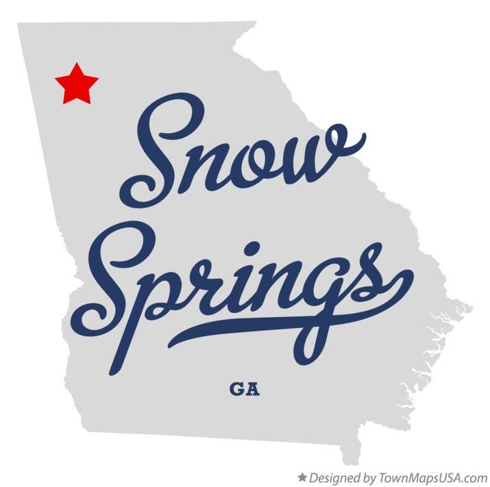 Map of Snow Springs Georgia GA