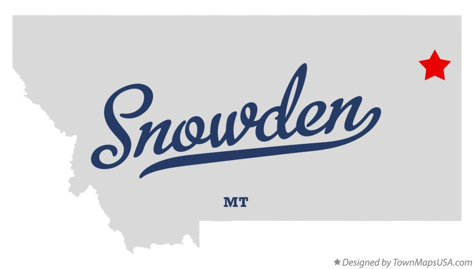 Map of Snowden Montana MT