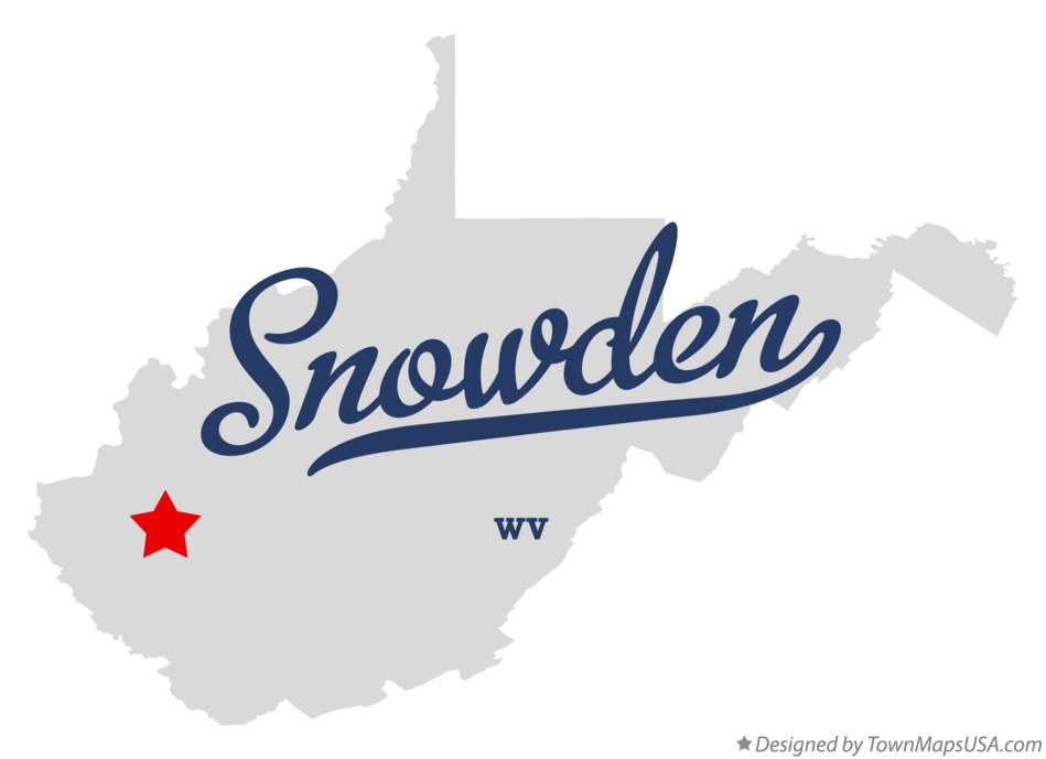 Map of Snowden West Virginia WV