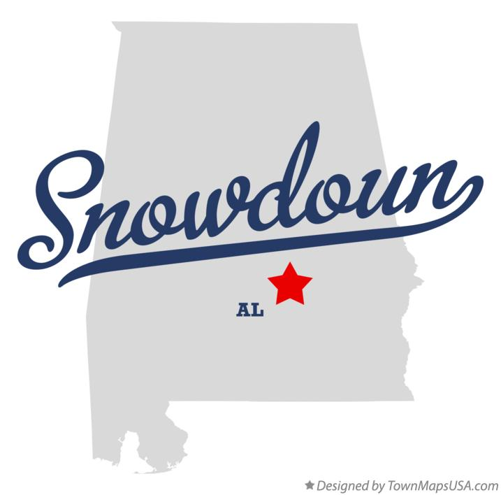 Map of Snowdoun Alabama AL
