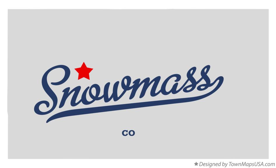 Map of Snowmass Colorado CO