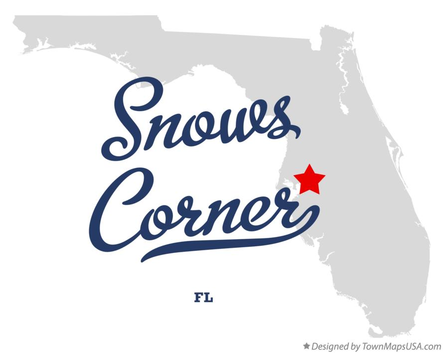 Map of Snows Corner Florida FL