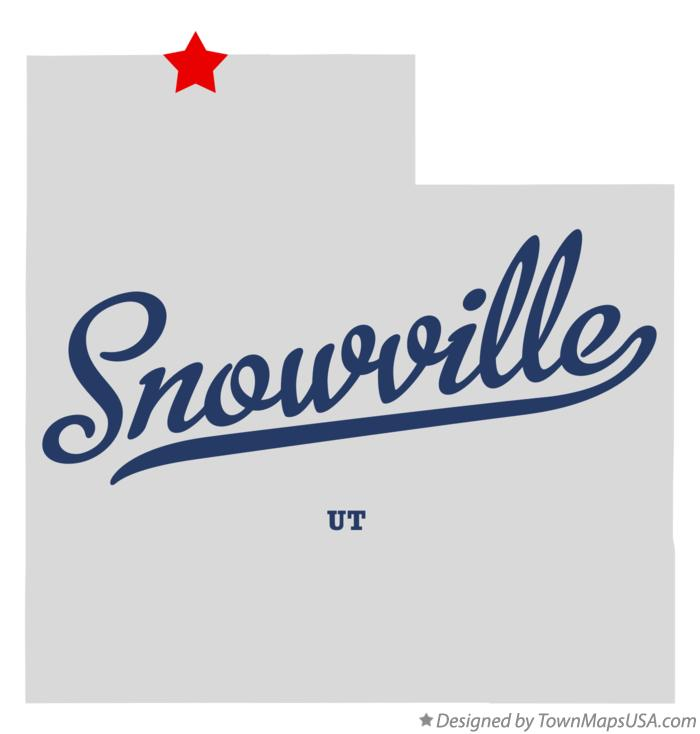 Map of Snowville Utah UT