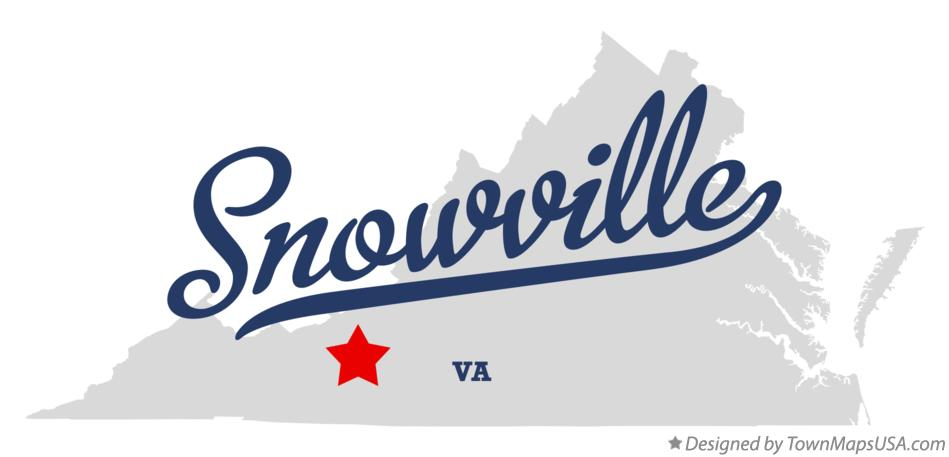 Map of Snowville Virginia VA