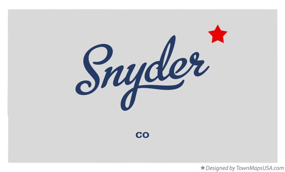 Map of Snyder Colorado CO