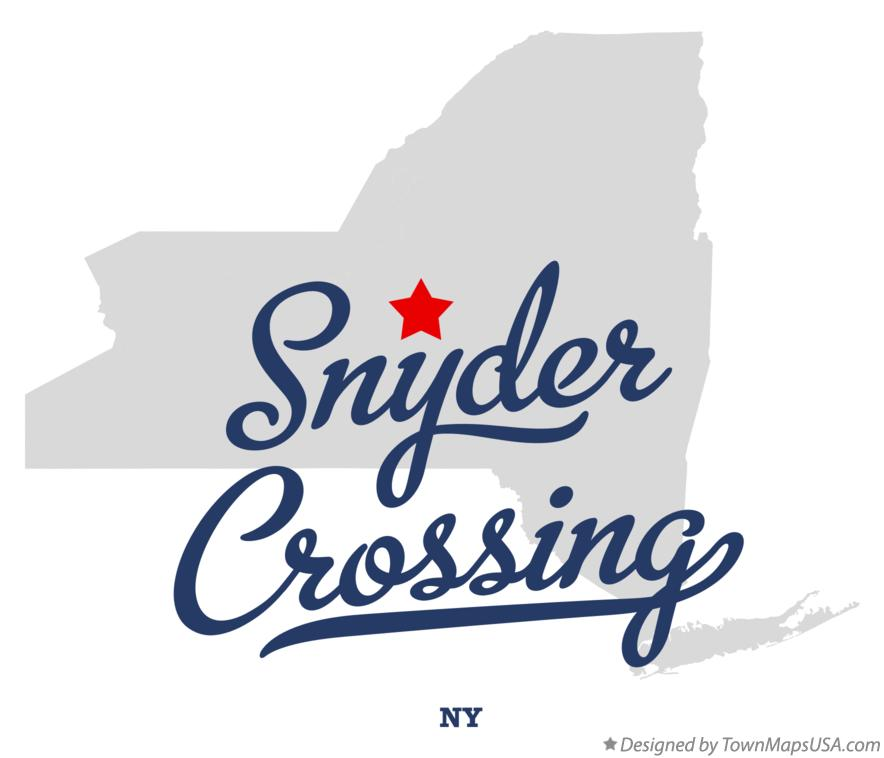 Map of Snyder Crossing New York NY