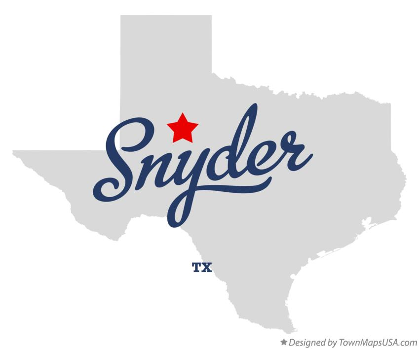 Map of Snyder Texas TX
