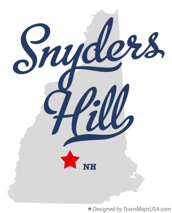 Map of Snyders Hill New Hampshire NH