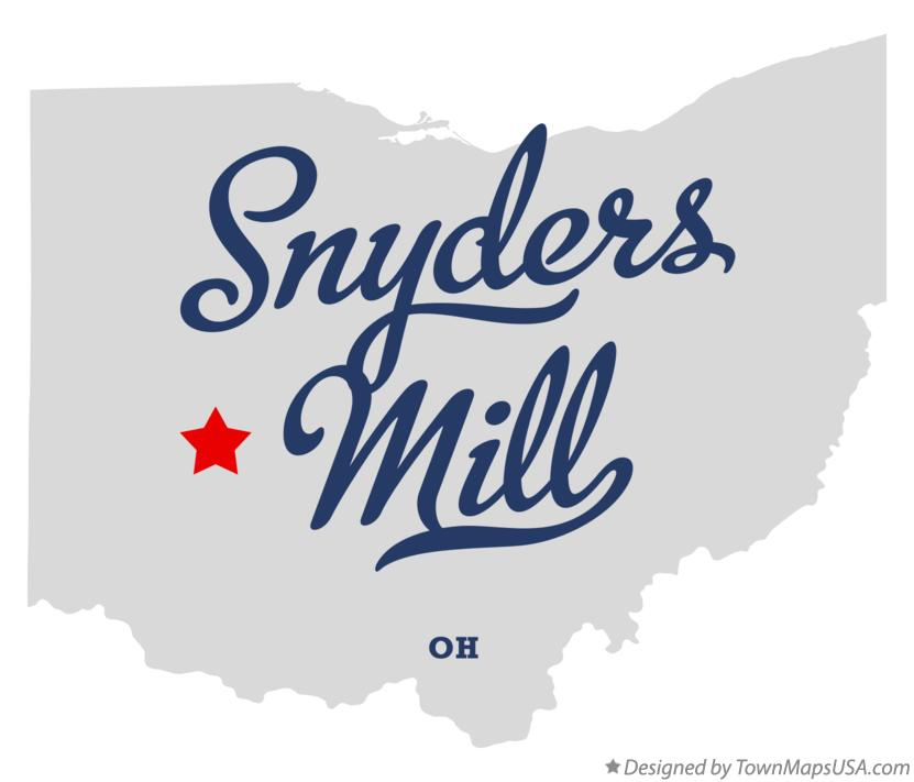 Map of Snyders Mill Ohio OH