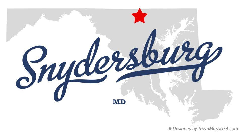 Map of Snydersburg Maryland MD