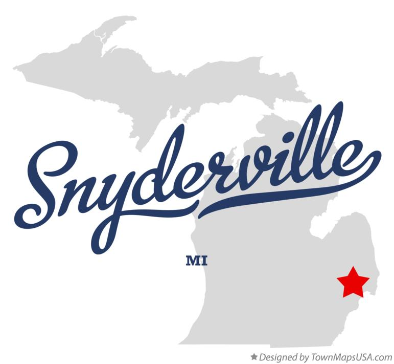 Map of Snyderville Michigan MI