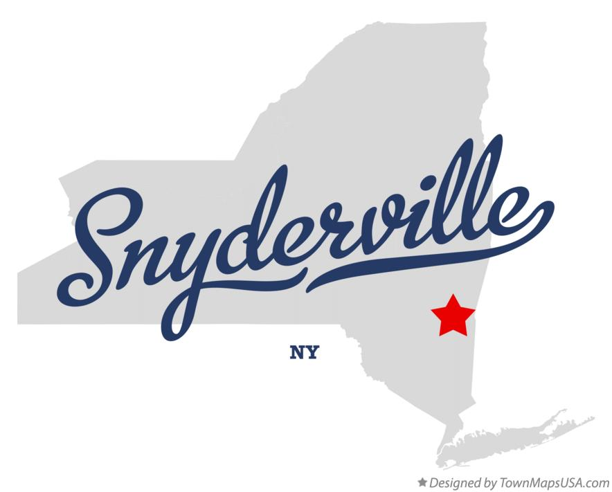 Map of Snyderville New York NY