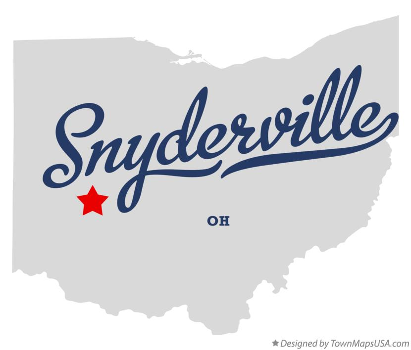 Map of Snyderville Ohio OH