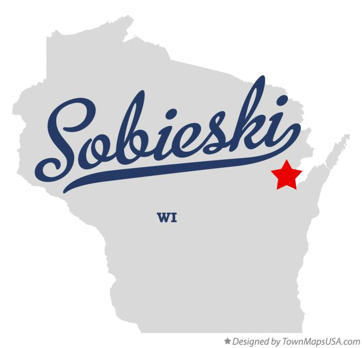 Map of Sobieski Wisconsin WI