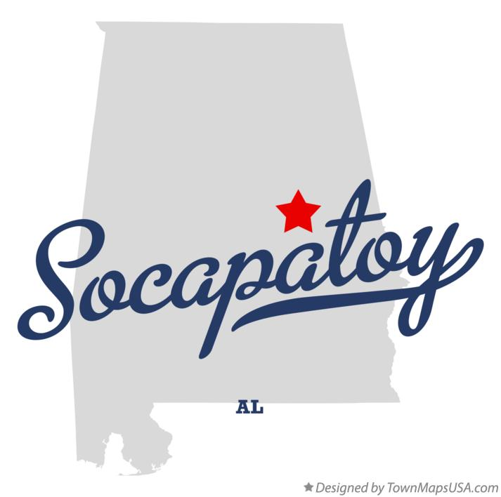 Map of Socapatoy Alabama AL