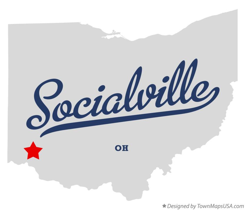 Map of Socialville Ohio OH