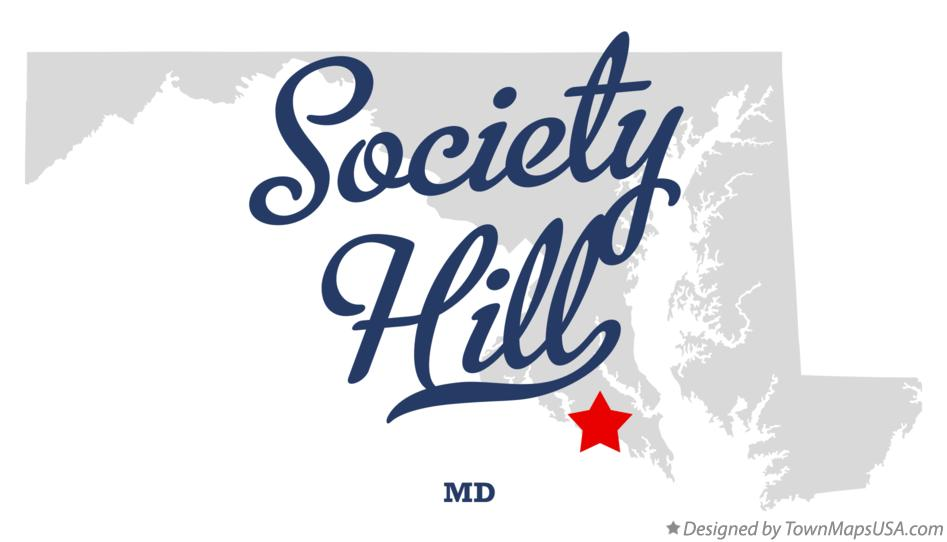 Map of Society Hill Maryland MD