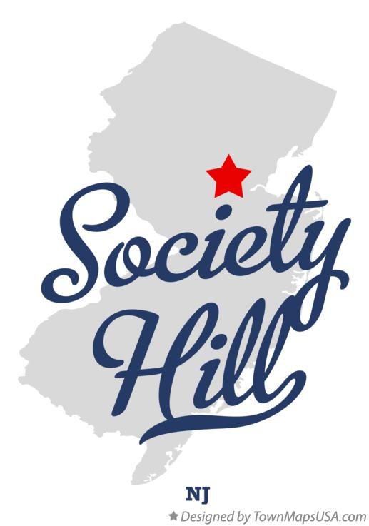 Map of Society Hill New Jersey NJ