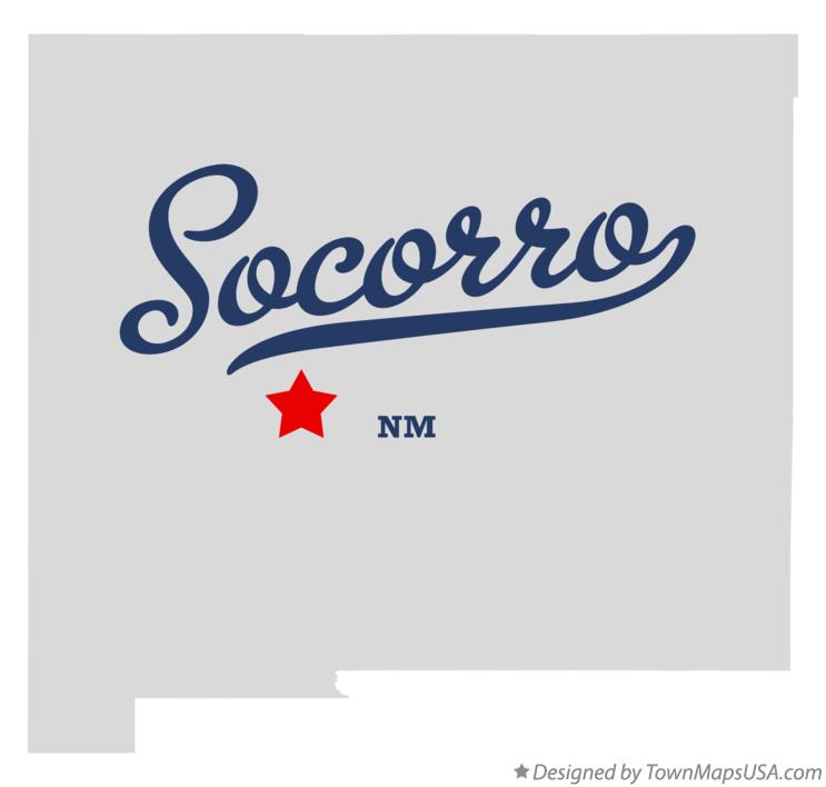 Map of Socorro New Mexico NM