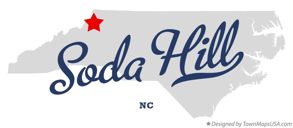 Map of Soda Hill North Carolina NC