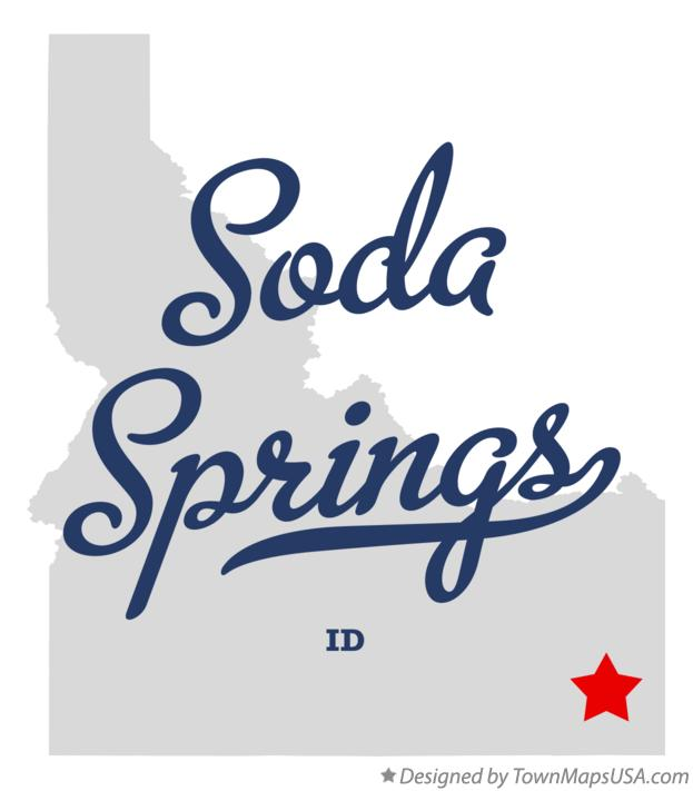Map of Soda Springs Idaho ID