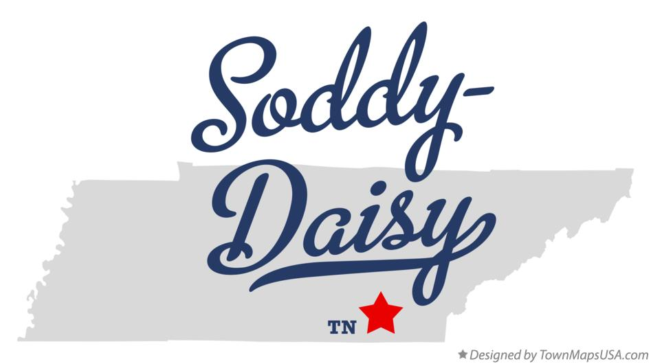 Map of Soddy-Daisy Tennessee TN