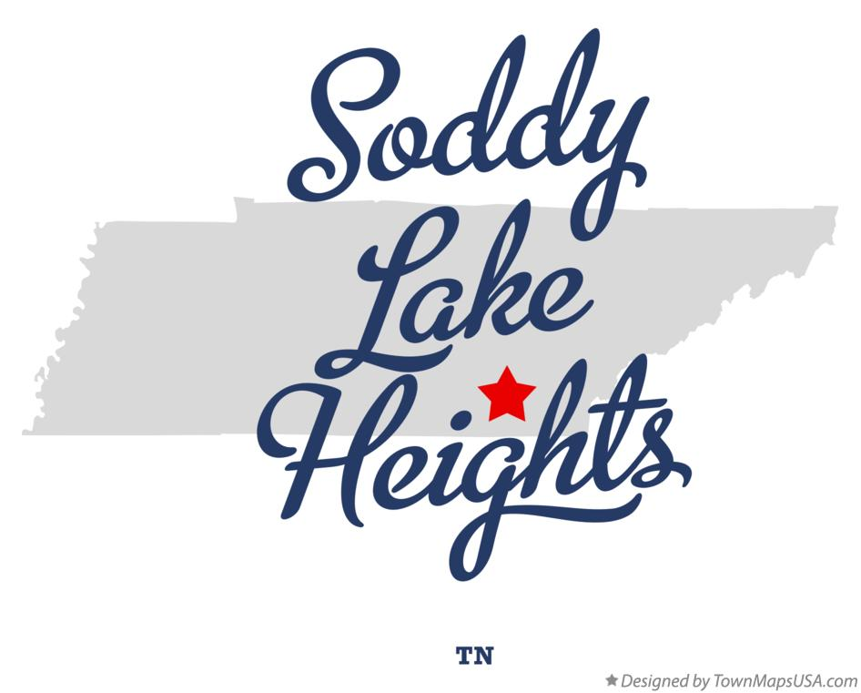Map of Soddy Lake Heights Tennessee TN
