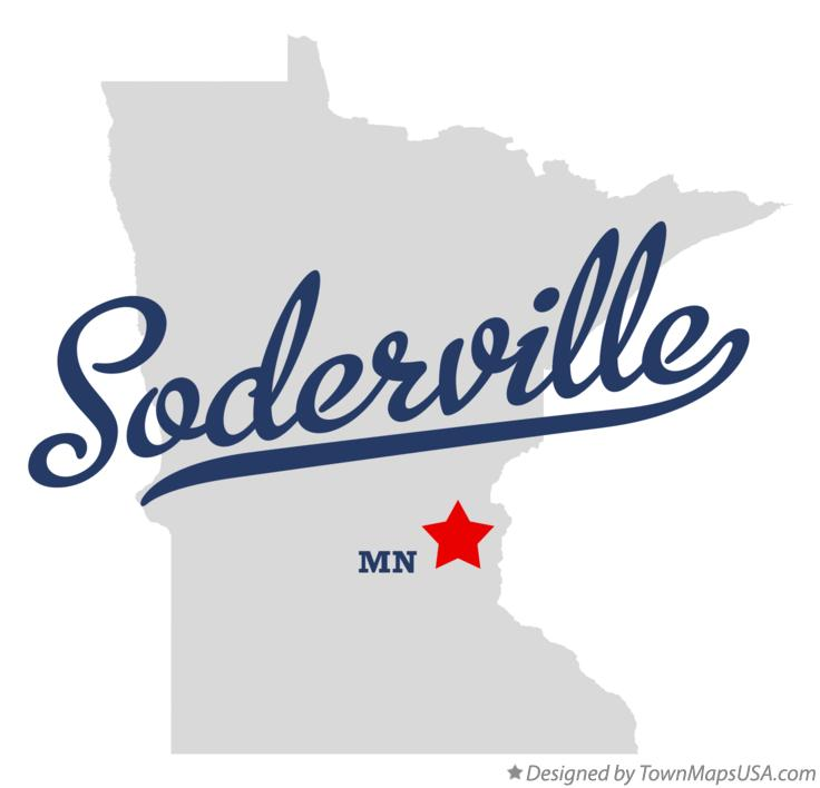 Map of Soderville Minnesota MN