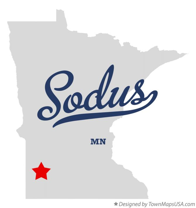 Map of Sodus Minnesota MN